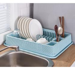 Идеально компактный пластиковый кухня блюдо Drainer сушки и лоток для установки в стойку
