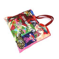 Designer Messenger fait main Sac en toile de coton, Shopper Logo personnalisé imprimé sac de toile de coton