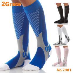 Sport, der Fußball-Unisexmann-Frauen-Bein-Stützausdehnungs-magische Komprimierung-Socken laufen lässt