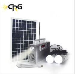 Kits d'énergie solaire panneau PV système d'énergie portable 10W 20W 30W 50W pour la maison de l'éclairage