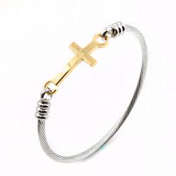 مجوهرات الفولاذ المقاوم للصدأ أزياء الرجال سحر الصليب بانجل