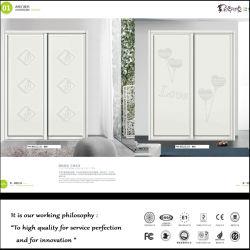 Blanc moderne construit en fleur de chambre à coucher armoire coulissante fermée