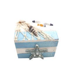 صندوق ديكور خشبي مع عتبات البحر وBlue Starfish