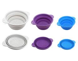 Passoire silicone pliable drainer la crépine de Fruits Légumes Panier de lavage