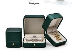 Caja de almacenamiento de joyas de cuero caja de Papel Caja de anillo de Joyería de pendientes Joyería Colgante Collar de Ensacado Caja de regalo (YSD89)