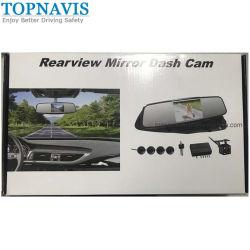 Miroir de 4,3 pouces DVR avec capteur de stationnement de la vidéo