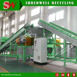 Shredwell Afvalbandpapiervernietiger machine voor Gebruikte banden met Siemens PLC