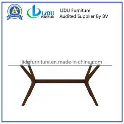 Natürliche rechteckige 8 Seaters feste Eichen-moderne hölzerne Speisetisch-Glasoberseite der Farben-Esszimmer-Möbel-mit den hölzernen Beinen