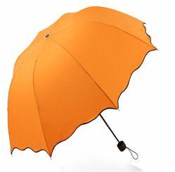 Kapitel-Regenschirm des Förderung-Form-bunter faltender Regenschirm-Handbuch-geöffneter Abschluss-3
