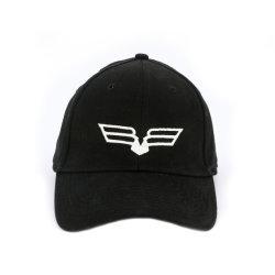伸縮性があるコードの平らな刺繍のロゴの卸し売り野球帽バックル無し