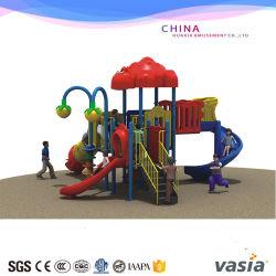 Diapositiva plástica pequeña para juegos al aire libre del parque de atracciones