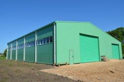 Luz de pré-fabricados e estrutura de aço/Oficina/Depósito de lona