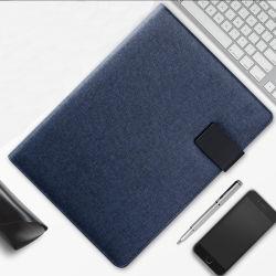 A4サイズPUのメモ帳が付いている革オフィスのポートフォリオ
