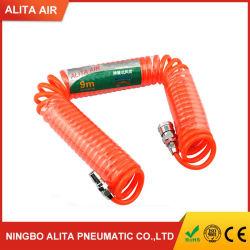 연질 폴리우레탄 튜브 PU 스프링 코일 호스 공압 컬러풀한 나선형 호스
