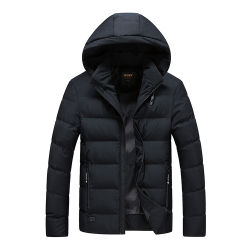 Manteau d'hiver de gros de haute qualité Rembourrage confortable hommes veste chaude