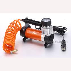 Luftverdichter-Gummireifen-Luftpumpe des Auto-12V mit Druckanzeiger