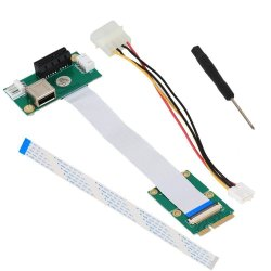 PCI-E에 소형 PCI-E는 X1+USB 라이저 카드를 표현한다