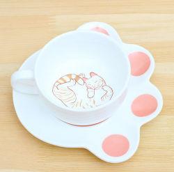 De leuke Melk van de Mok van de Kop van de Koffie van de Kat Witte Ceramische
