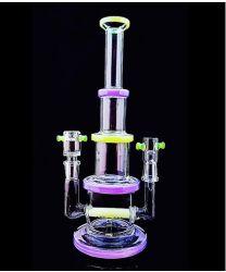 De nouveaux designs recycleur recycleur de verre pipes à eau de fumer le tabac Tall bol en verre de couleur de l'artisanat Bécher de verre cendrier Pipe Heady barboteur plates-formes pétrolières