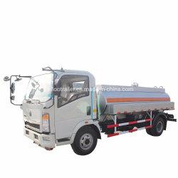 Dongfeng 4X2 алюминиевого сплава 7000 литров топлива заправкой Автоцистерна
