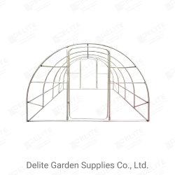 Executar o frango com efeito de estufa de tomate Coop Cage House Casa dos Arcos Polytunnel Proteger Layer 6x3m Prefab Construção em Aço