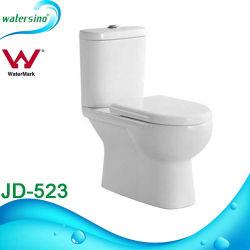 正方形の浴室の陶磁器の白濁水の戸棚の便座