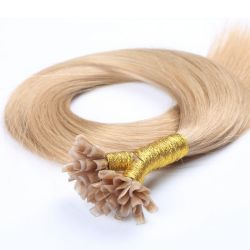 Pre-Bonded Extensão de cabelo U-Dica de cabelo humano