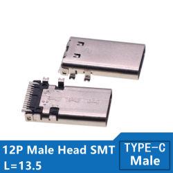 Handy-Zubehör 12pin 3.1 USB-Typ c-männlicher Verbinder-einzelne Nadel