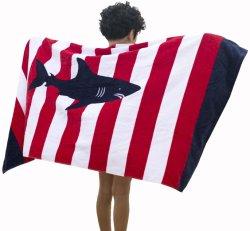 As crianças a toalha de banho com listra vermelha e branca para toalhas de banho, piscina e praia 100% de algodão