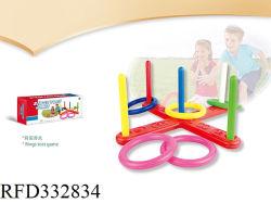 Los niños Outdoor Indoor Sport anillo de plástico juguetes Juego de anillo Aro Toss Toss