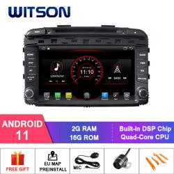 기아용 Witson 쿼드 코어 Android 11 차량용 GPS DVD 플레이어 Sorento 2015 내장형 WiFi 모듈