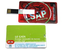 Lecteur Flash USB de carte de crédit, Bussiness Card USB Pen Drive