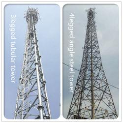 Zelfdragend stalen rooster met 3 of 4 poten hoekstaal En stalen buisvormige communicatieantenne voor telecommunicatie