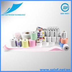 Thermisches Papier für BPA, ATM, Position, Registrierkasse, Kreditkarte, unbelegtes thermisches und gedrucktes thermisches Papier Rolls