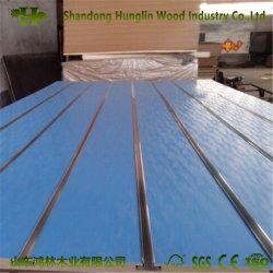 MDF Slatwall Panel de madera/pared de la tablilla/ranura junta