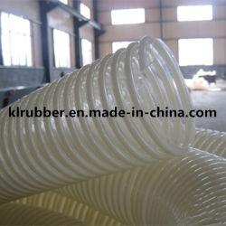 Transparante spiraalslang voor zuig- en afvoerslang van PVC