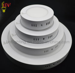 Le SMD 6W 12W 18W LED rondes et carrées plafond Éclairage du panneau de châssis avec des panneaux LED Indoor