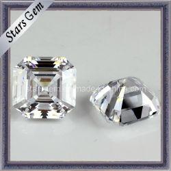 高品質の正方形の形のAsscherによって切られる立方Zircnoiaの宝石類