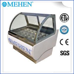 Armadietto di esposizione italiano del gelato di temperatura insufficiente del mini congelatore commerciale superiore di Gelato