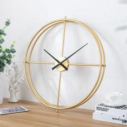 Роскошные декоративные ремесла зал для современного интерьера металлические Настенные часы