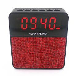 새로운 디자인의 Mini Portable 무선 스피커, 핸즈프리 FM 알람 시계 홈 BT 멀티미디어 클럭 스피커