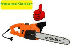 Outils d'alimentation électrique professionnelle Chainsaw-Garden bois/arbre de scie à chaîne de coupe