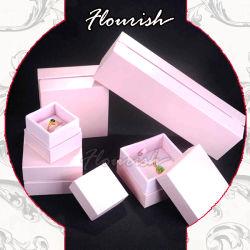 Mayorista de lujo rosa Impreso de joyería de cartón plegable Regalo/ Collar/ anillo/ Caja de regalo de embalaje de pulsera para chicas