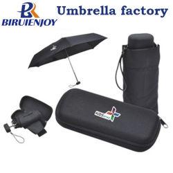 Supermini 5 складная рекламных зонтик с логотипа печать на корпус и EVA случае 19 дюйма