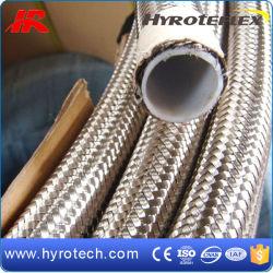 SS304/SS316 خرطوم PTFE من الفولاذ المقاوم للصدأ القابل للتفريغ مع سعر تنافسي
