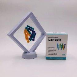 Sterilie desechables Twist sangre Lancet con tapón de seguridad y Tri-Bevel Nedle sugerencia