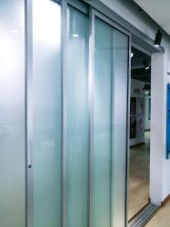 Grande taille de l'intérieur d'alliage en aluminium porte en verre coulissante