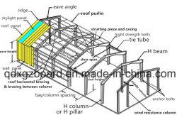 Быстрая установка под ключ службы стали структуры склада (ZY345)