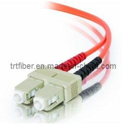 Scのマルチモードデュプレックス光ファイバパッチ・コードのファイバーケーブルのファイバーのジャンパー線