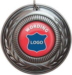 Medaille van het Email van de Legering van het zink de Zachte met de Decoratie van de Gift van het Huis van het Lint